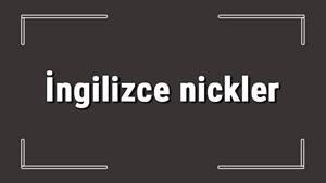 Cool Kullanıcı İsimleri İngilizce | Instagram Kullanıcı Adları ve İsimleri